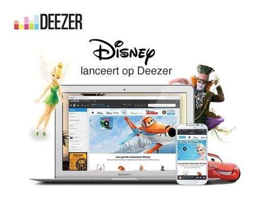 Deezer krijgt apart Disney-kanaal