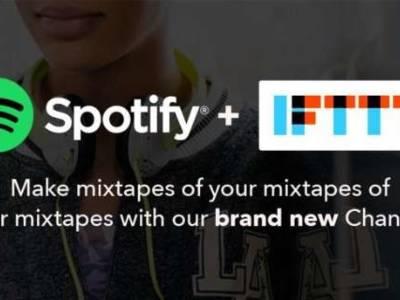 Ook Spotify krijgt eigen IFTTT-kanaal